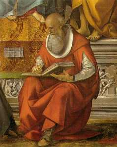 Luca Signorelli - St. Jerome (detail from Virgin..