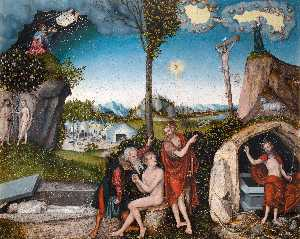 Lucas Cranach The Elder - Law and Grace
