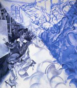 Marc Chagall - Self Portrait with Muse (Dream)