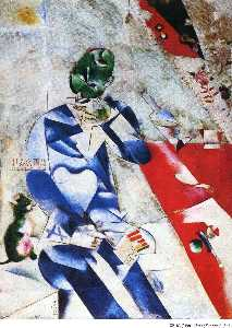 Marc Chagall - The Poet, or Half Past Three