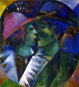 Marc Chagall - Green Lovers