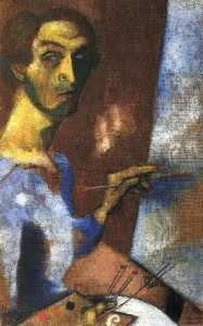 Marc Chagall - Self Portrait with Easel