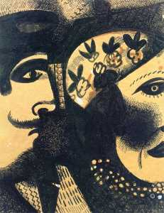 Marc Chagall - Two Heads