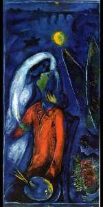 Marc Chagall - Lovers near Bridge