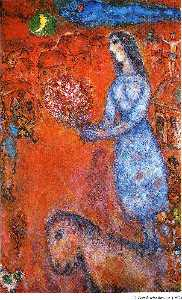 Marc Chagall - Fiancee with bouquet