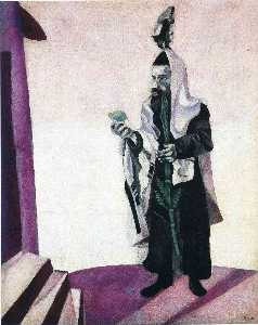 Marc Chagall - Feast Day (Rabbi with Lemon)
