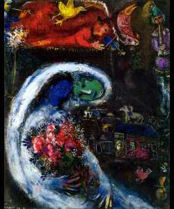 Marc Chagall - Bride with Blue Face