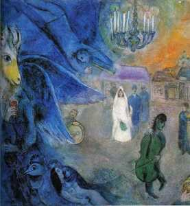 Marc Chagall - The Wedding Candles