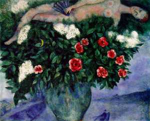 Marc Chagall - The Woman and the Roses
