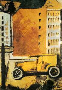Mario Sironi - The yellow truck