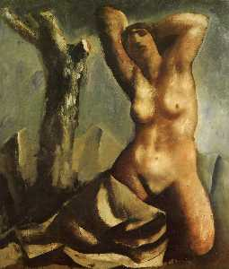 Mario Sironi - Nude with tree