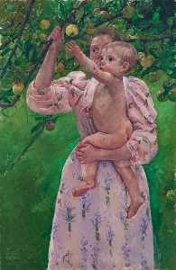 Mary Stevenson Cassatt - Baby Reaching For An Appl..