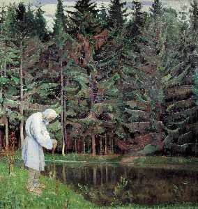 Mikhail Nesterov - Elder (Abraham, the Servant of..