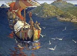 Nicholas Roerich - Visitors from over the se..