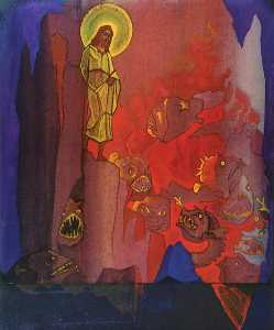 Nicholas Roerich - Harrowing of Hell