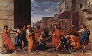 Nicolas Poussin - Christ and the adulteress