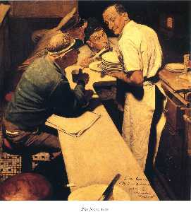 Norman Rockwell - War News