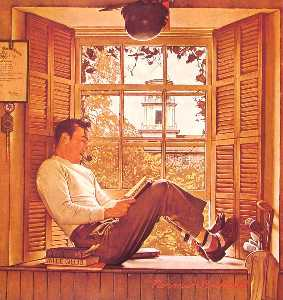 Norman Rockwell - Willie Gillis in College
