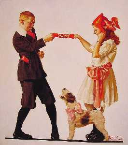 Norman Rockwell - The Party Favour