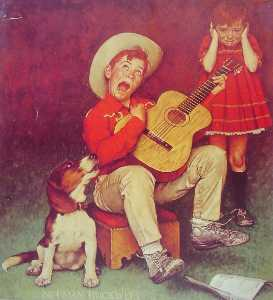 Norman Rockwell - The Music Man