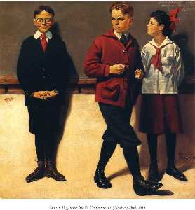Norman Rockwell - Cousin Reginald Spells Pe..