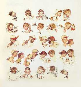 Norman Rockwell - Faces of Boy