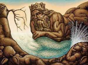 Octavio Ocampo - Absents of the mermaid