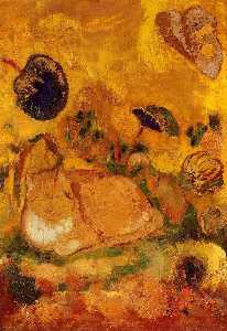 Odilon Redon - Bazon: The Artist-s Cat