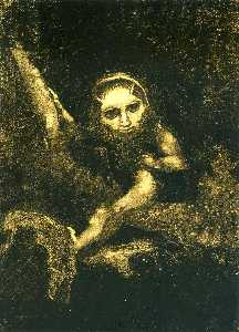 Odilon Redon - Caliban on a branch