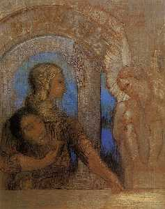 Odilon Redon - The Mystical Knight (Oedipus and the Sphinx)