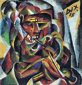 Otto Dix - Warrior with a Pipe