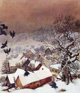 Otto Dix - Randegg in the snow with ..