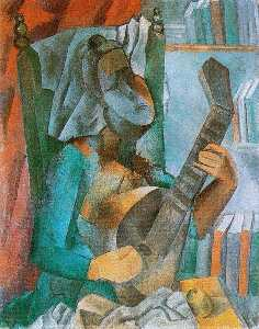 Pablo Picasso - Woman with a Mandolin
