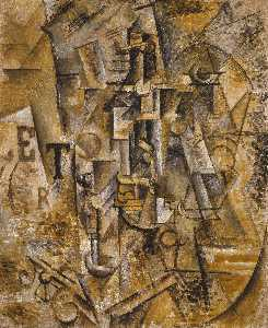 Pablo Picasso - Still life with bottle of rum