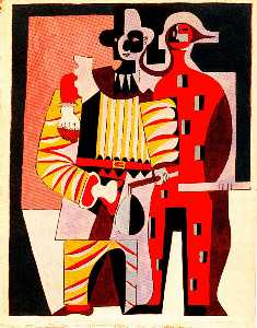 Pablo Picasso - Pierrot and harlequin