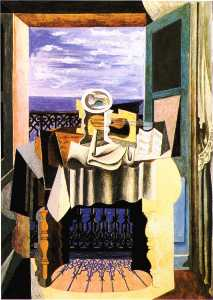 Pablo Picasso - Still life in front of a window at Saint-Raphael
