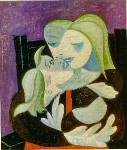 Pablo Picasso - Mother and child (Marie-Therese and Maya)