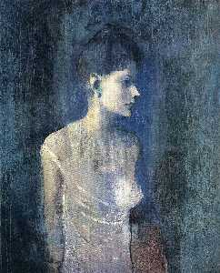 Pablo Picasso - Portrait of seniora Soler (Girl in a chemise)