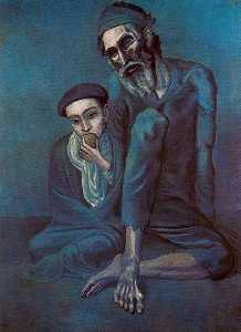 Pablo Picasso - Old blind man with boy