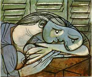 Pablo Picasso - Sleeper near the shutters