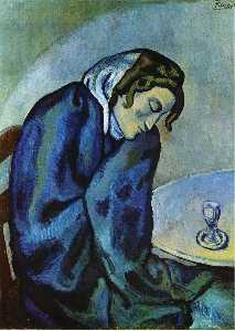 Pablo Picasso - Drunk woman is tired