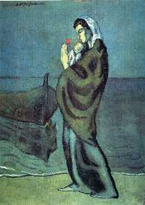 Pablo Picasso - Mother and child on the beach
