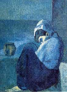 Pablo Picasso - Crouching woman