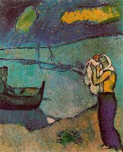 Pablo Picasso - Mother and son on the shore