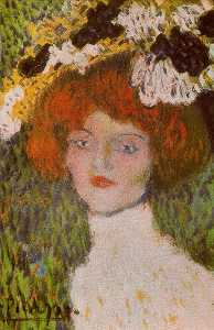 Pablo Picasso - Madrilenian (Head of young woman)