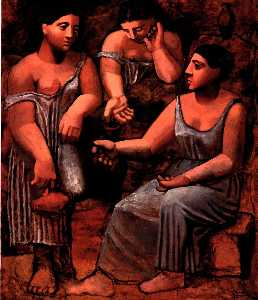 Pablo Picasso - Three women at a fountain