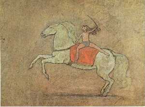 Pablo Picasso - A horsewoman