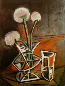 Pablo Picasso - Vase with flowers