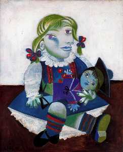 Pablo Picasso - Portrait of Maya with her doll