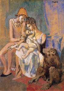 Pablo Picasso - Family of Acrobats with Monkey